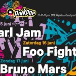 Festival Pinkpop 2018com Pearl Jam, osFoo Fighters eBruno Mars