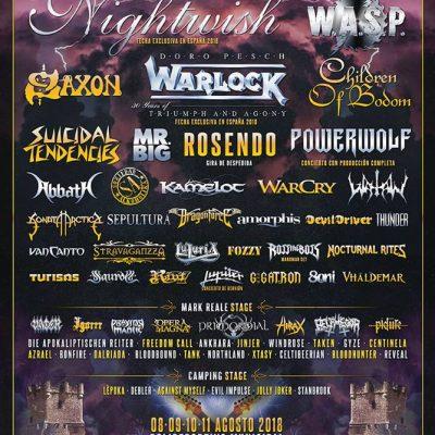 Festival Leyendas del Rock em Agosto com Nightwish, W.A.S.P. e Warlock