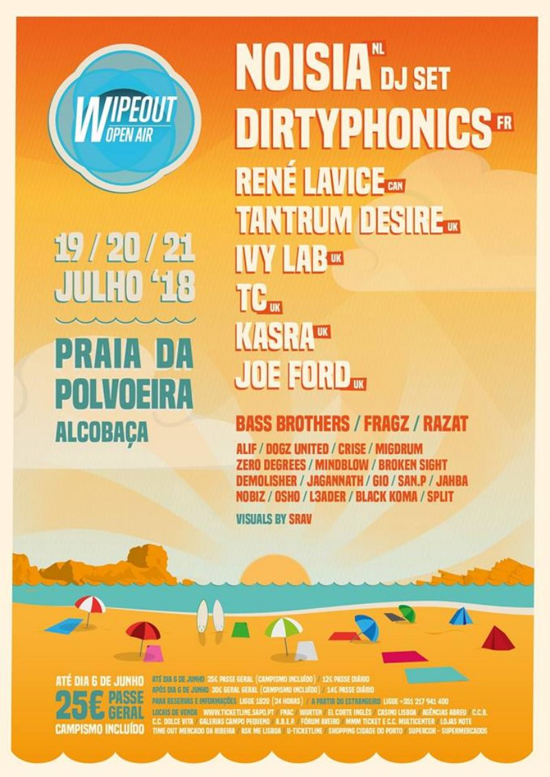 Circuito Wipeout : Festival wipeout open air revelou o cartaz completo com