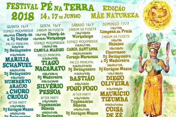 Festival Pé na Terra 2018 Horários Concertos
