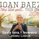 Joan Baez despede-se dos palcos e apresenta novo álbum no Coliseu De Lisboa