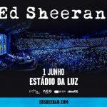 Concerto de Ed Sheeran marcado para o Estádio da Luz em 2019