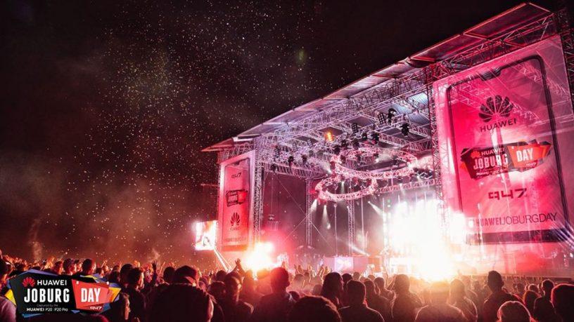 Vídeos de todos os concertos completos do Festival Huawei Joburg Day 2018