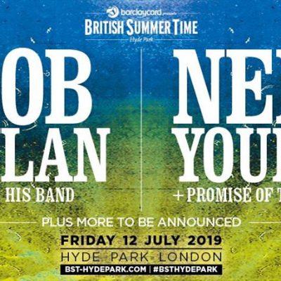 British Summer Time 2019 confirmou dois Headliners para o mesmo dia: Bob Dylan e Neil Young