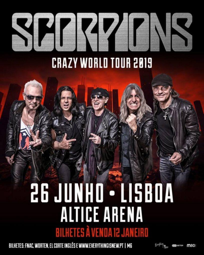 scorpions regressam a portugal em 2019 para concerto na
