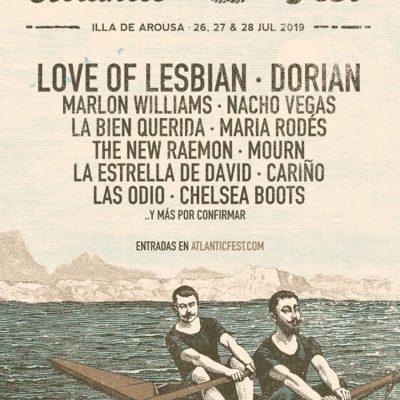Atlantic Fest 2019 na Ilha de Arousa com 12 nomes confirmados: Love of Lesbian, Dorian