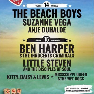 BBK Music Legends Festival 2019 com The Beach Boys, Ben Harper, Suzanne Vega e Little Steven