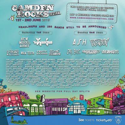 Camden Rocks Festival 2019 em Londres com 220 concertos confirmados