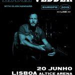 Eddie Vedder dos Pearl Jam com concerto no dia 20 de junho na Altice Arena em Lisboa