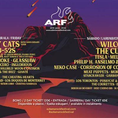 Azkena Rock Festival 2019 no País Basco com Stray Cats, Wilco, The Cult, The B-52s