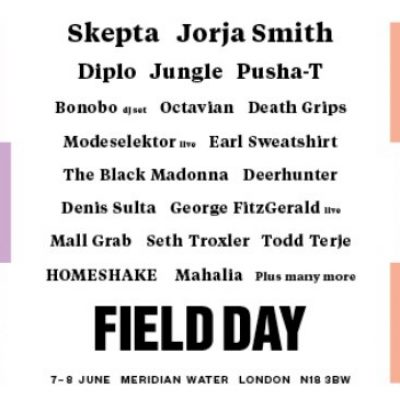 Festival Field Day London 2019 com Skepta, Jorja Smith, Diplo, Jungle e Pusha-T