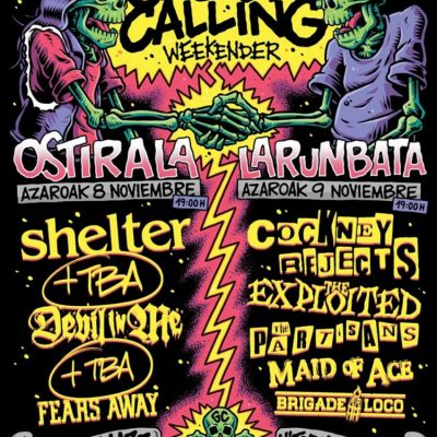 Festival Gasteiz Calling 2019 com Shelter, Cockney Rejects, The Exploited