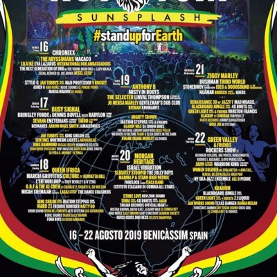 Festival Rototom Sunsplash 2019 com Livestream de 4 Palcos no Youtube