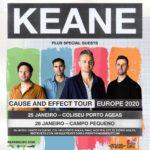 """Keane apresentam """"Cause and Effect"""" em janeiro no Porto e em Lisboa"""