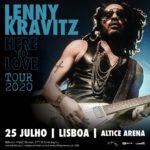 Concerto de Lenny Kravitz no dia 25 de julho na Altice Arena foi adiado