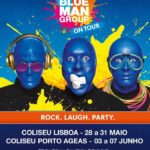 Blue Man Group com 12 espetáculos nos Coliseus de Lisboa e do Porto