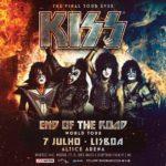 Concerto de despedida dos KISS dia 7 de julho na Altice Arena em Lisboa