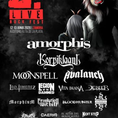 Festival Z Live Rock 2020 confirmou Amorphis e os portugueses Moonspell e Revolution Within