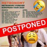 Metronomy adiam concerto no Coliseu de Lisboa devido ao Coronavírus SARS-CoV-2  (adiado para 2021)