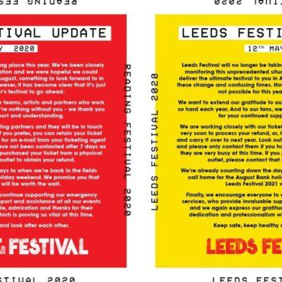Festivais Reading e Leeds 2020 foram cancelados devido à pandemia Covid-19