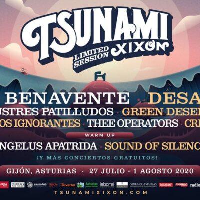 Festival Tsunami Xixón 2020 Limited Session com concertos exclusivos e lotação reduzida