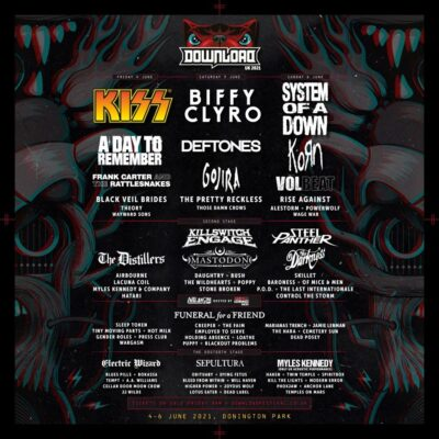Primeiro anúncio do Festival Download UK 2021 com KISS, Biffy Clyro, System Of A Down