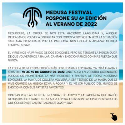 Festival Medusa SunBeach 2021 foi adiado para agosto de 2022
