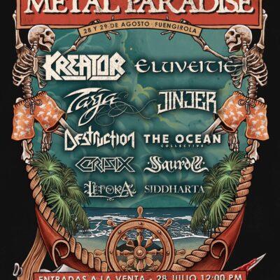 Estreia do novo festival espanhol Metal Paradise 2021 em mini-formato com 10 grupos