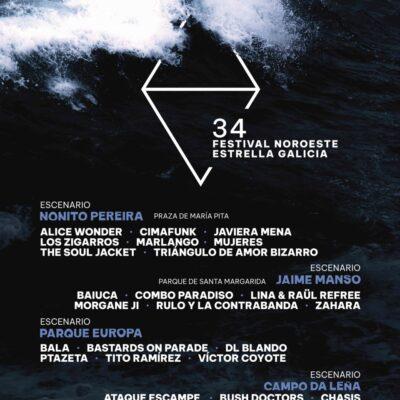 Festival Noroeste Estrella Galicia 2021 com Alice Wonder, Cimafunk, Lina & Raül Refree