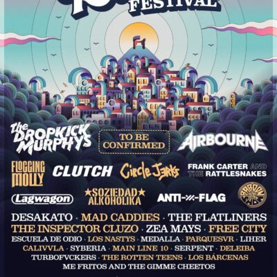 Festival Tsunami Xixón 2022 com Dropkick Murphys, Airbourne, Clutch, Circle Jerks
