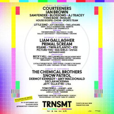 TRNSMT Festival 2021 em Glasgow Green com Courteeners, Liam Gallagher, The Chemical Brothers